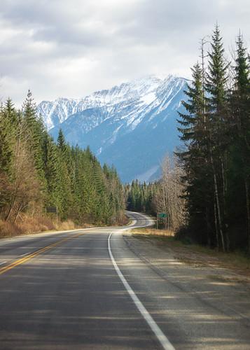 Highway 1 Rocky Mountains near Revelstoke BC