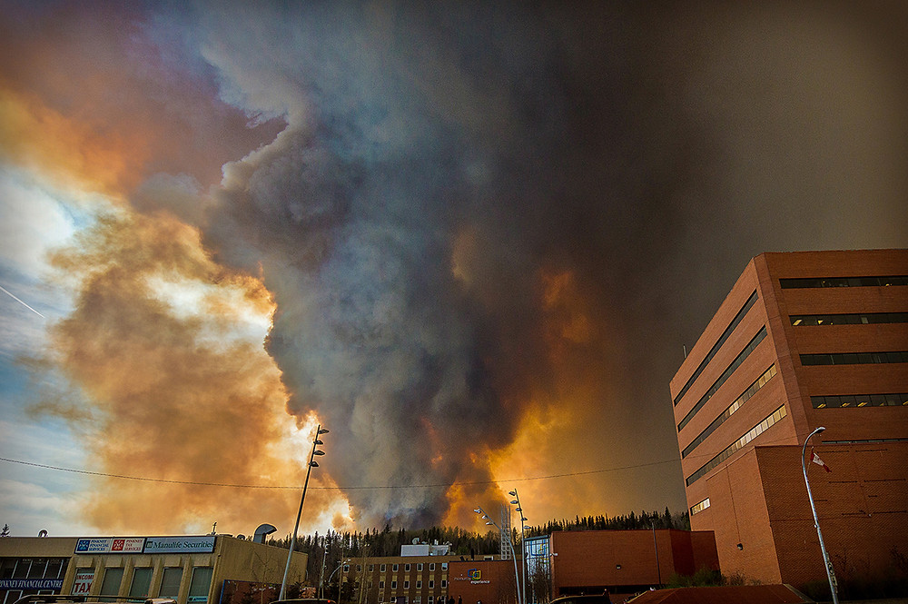 Fort McMurray Wildfire May 2016 downtown Harvey Ave radio stations