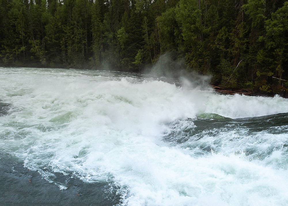 Bailey's Chute waterfall on Clearwater River in Wells Gray Provincial Park
