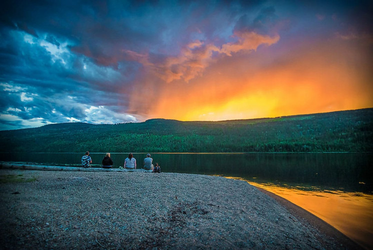 East Barriere Lake sunset