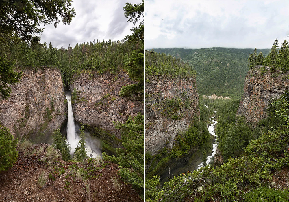 Sphatts Falls in Wells Gray Provincial Park