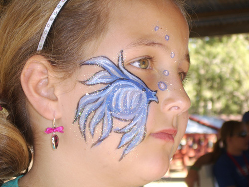 How To Face Paint Butterflies Cheek Art