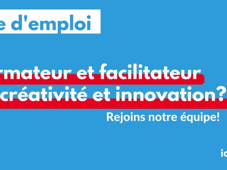 Job Offer: Formateur et facilitateur en créativité et innovation.
