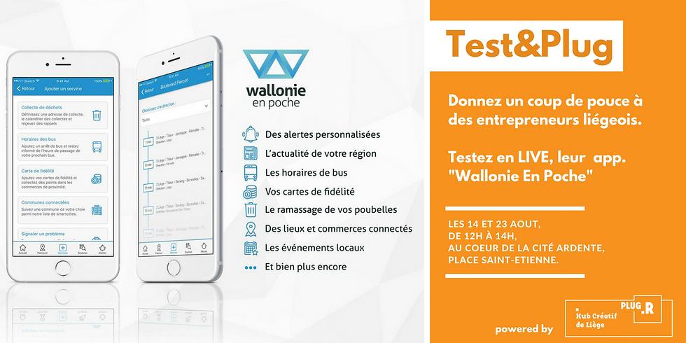 "Test&Plug - App. mobile ""Wallonie En Poche"""
