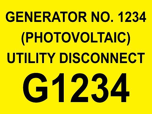 Generator Label