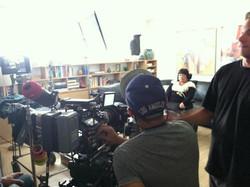 Jennifer filming 'The Sessions'