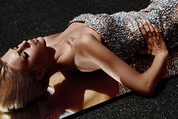 Lady in Diamond Dress