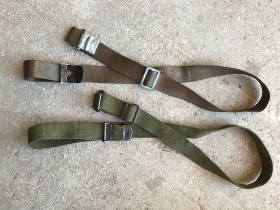 Early US Rifle sling with slider buckle