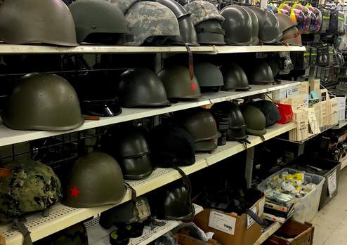 Helments, hats, toboggans
