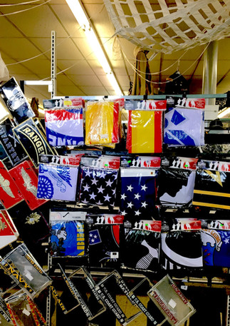 License plate covers, flags, bandanas...etc.