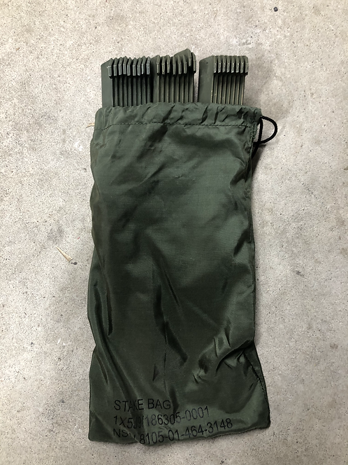 US Military Tent bag and Stakes