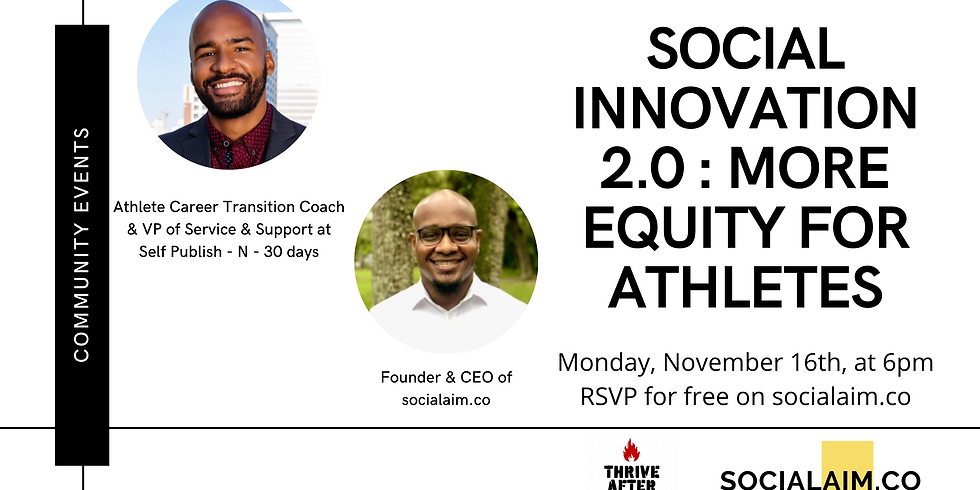 Social Innovation 2.0 : More Equity for Athletes!