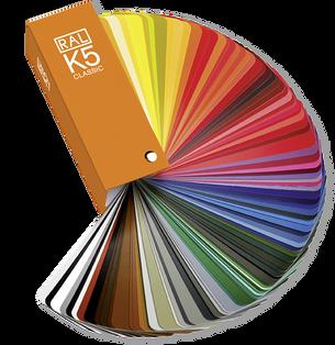 vzorkovník farieb hliníkových profilov izool