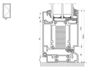 izool 70 zvisly rez cez kridlo a prah dv