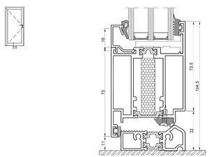 izool 60 zvisly rez cez kridlo a prah dv