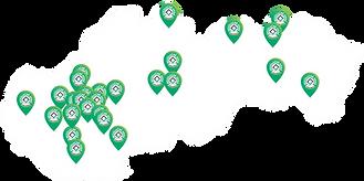 mapa členov združenia Revolučné okná