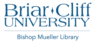 Briar Cliff University Bishop Mueller Library logo