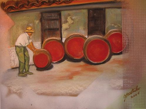 Weinfässer rangieren_91