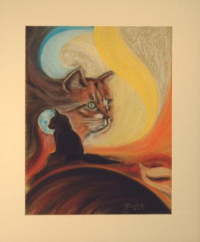 Katze im Mondschein_48