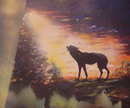 Heulender Wolf_135