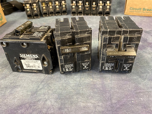 Siemens 15 amp 2 pole circuit breakers