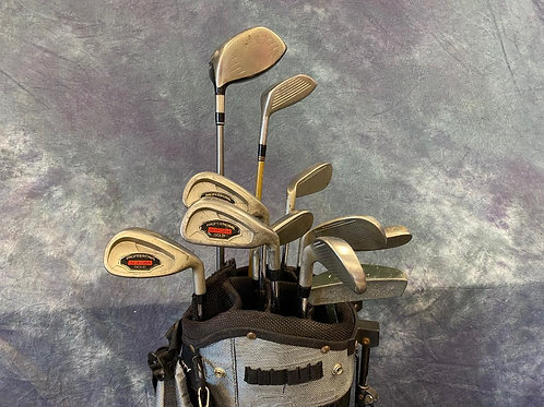 Integra Professional Gold Golf Clubs with bag
