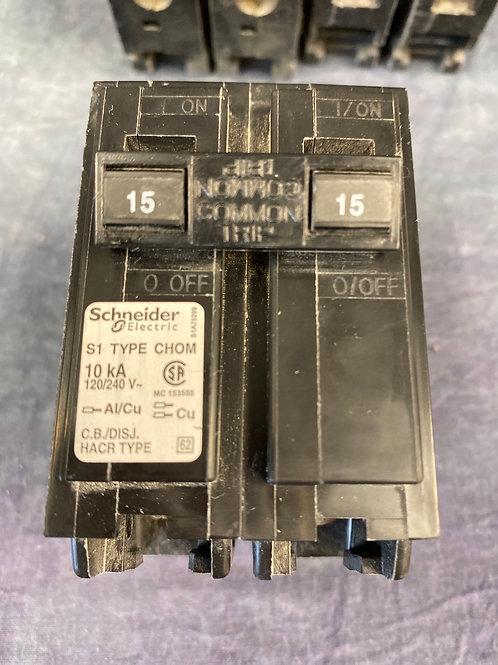 Schneider S1 Type CHOM  15 Amp 2 pole