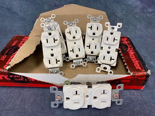 20 Amp duplex receptacles