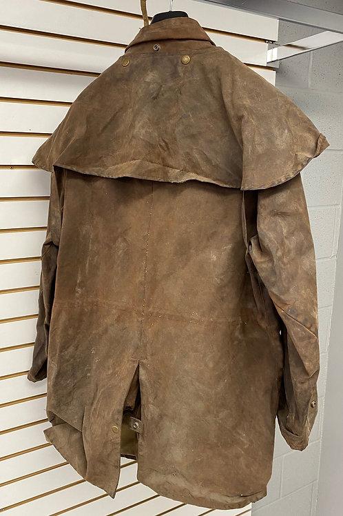 Oil Skin Mid Length Jacket