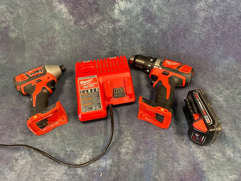 Milwaukee cordless  drill and impact driver kit