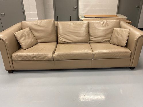 Extra long leather couch set