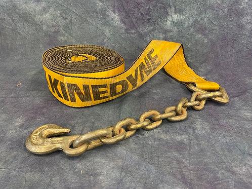 Kinedyne heavy duty  winch strap with chain block