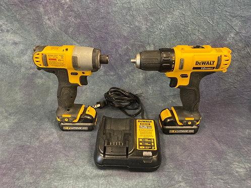 DeWalt 12 V impact  driver and drill set