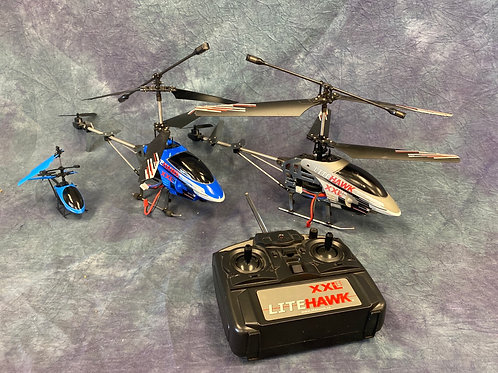 Lite Hawk XXL remote controlled helicopter fleet