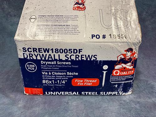 """1  1/4 """" fine thread Drywall screws"""