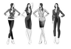 DOB Skizzen, Ladyies Design sketches