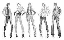 Trendy Design Fashion Silhouetten