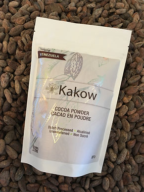 Kakow Dutch processed cocoa powder, alcalinisé, for baking,  healthy food, superfood, cake, brownie, ice cream