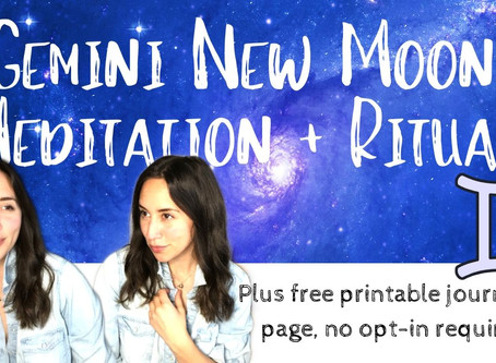 New Moon Meditation for in New Moon in Gemini May 22nd 2020