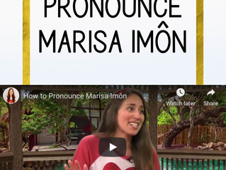 How to Pronounce Marisa Imôn