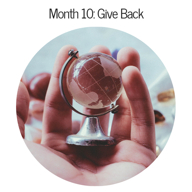 Month 10: Give Back