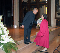Fr. Ozug and Madeleine Grace