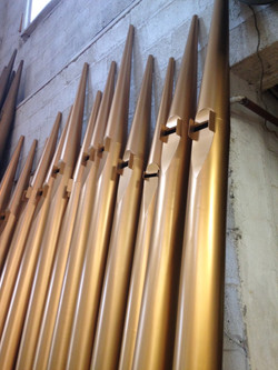 Newly Refinished Facade Pipes.JPG