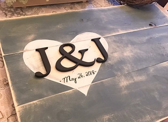 Wedding Heart Guestbook Large