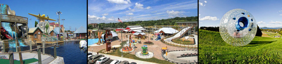 Professor Hacker's Lost Treasure Golf, The Track Family Fun Park, and Outdoor Gravity Park are examples of outdoor fun and adventure in the Smoky Mountains.