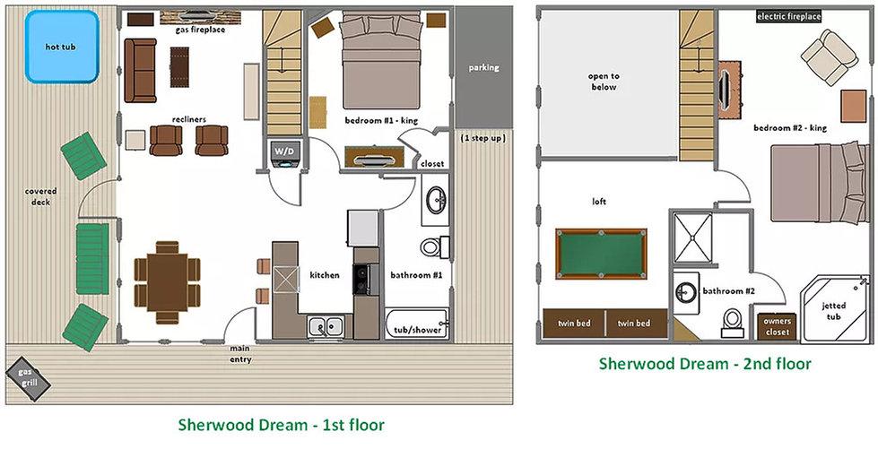 Sherwood Dream Cabin Floorplan