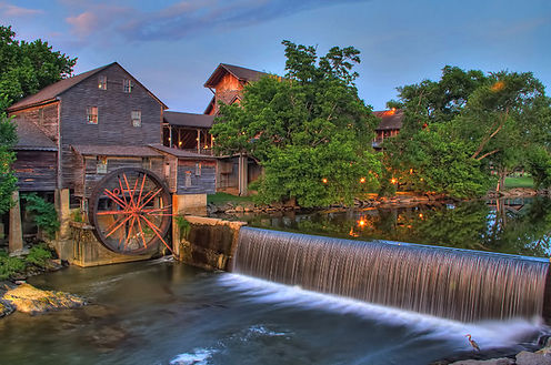 The Old Mill in Pigeon Forge, gristmill, shops, restaurant, and cafe