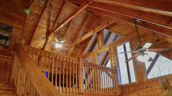 Cabin vaulted beamed ceilings