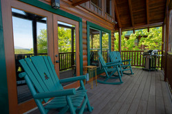 Back covered deck with natural gas grill