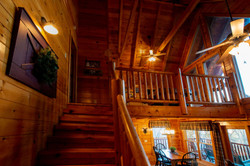 Stairs to Bedroom 2 and Game Loft